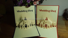 2015 Fantastic trend pop up invitation card for 2015 wedding theme