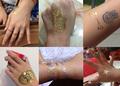 flash folha de tatuagem temporária fashiontemporary jóiacorporal tatuagens
