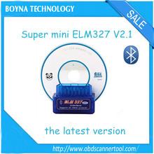 2014 de fábrica bajo Precio A +++ Calidad Super Mini Bluetooth ELM327 OBDII / OBD2 Wireless Mini Azul olmo 327 ENVÍO RÁPIDO