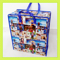pp woven promotion shopping bag with zipper