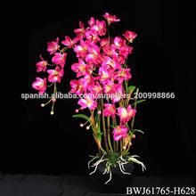 barato al por mayor de orquídeas de flores artificiales con maceta
