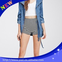 Cotton tight shorts sexy women stripe shorts