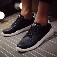 M1179 New 2015 man shoes wholesale casual fashion high platform korean lace up men leather sneaker shoes