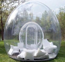 Outdoor Aluminum Frame Transparent Geodesic dome tent