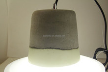 Industrial light European style concrete lampshade with resin + E27 plastic lampholder