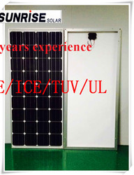 Home use high quality low price 100 watts Mono solar panels in China