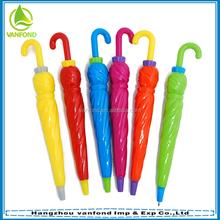Plastic umbrella shaped ball pen for promotion