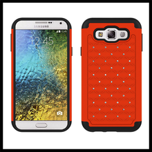 double color silicone Pc cell phone case for samsung galaxy E5