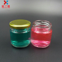 wholesale 100ml glass mason jar &jam jar with tin cap