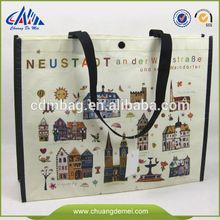 Promotional shopping bag, made of nonwoven with lamination, customized artworks are accepted