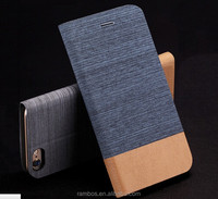 Jeans Denim Mobile Phone Flip Customized Stand Leather Cover Case for Huawei Mate S