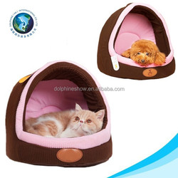 Novelty fashion style comfortable pet home plush pet bed soft dog bed soft cat bed