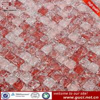 Indoor wall decorative Red Broken glass mosaic tile