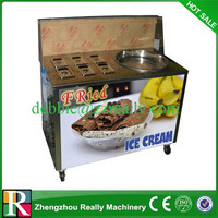 Hot Sale 1,2,3 Flavor Automatic Commercial Table Top Big Capacity Cheap fried ice cream machine For Sale