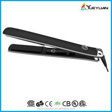 2015 Recommended certification private label hair flat iron global beauty cermic flat iron pro titanium 1/4 inch flat iron