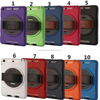 For ipad mini 2 3 Hand Case with Shockproof rotating Hard Armor Back Pack