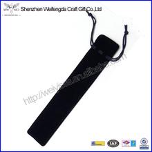 Promotional Black Single Draw String Velvet Pen Pouch