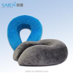 2015 hot sale cheap pu promotional travel neck pillow