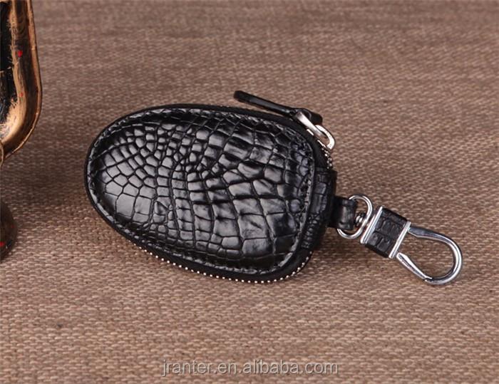 Top Luxury Crocodile Leather Case Car Key  Holder Wallet,High-end Leather bmw key case_5