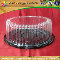 Cheap hot sale top quality clear plastic cake box packaging