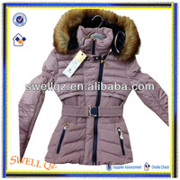 newest product jacket for women with fur hood