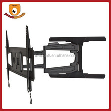 """For 32""""-65"""" (Black) features Double, Articulating Arm, Integrated Tilt/Swivel Slim Full Motion wall mounted tv cabinets"""