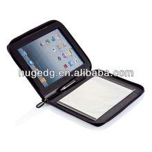 Black PU leather laptop /tablet case with pen holder