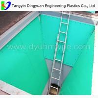uhmw plastic chute lining/ uhmwpe bin liner manufacturer