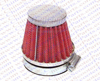 58MM Air filter Red Grid Silver Cap Mini Moto Dirt Pit Bike ATV Quad Scooter Buggy Pocket Parts