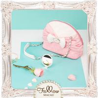 Small size Beautiful girl PU leather Pink single shoulder handbags