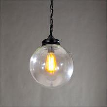 large size D300mm pendant light transparent glass ball lamps for indoor decoration