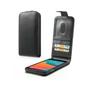 Funda de cuero para LG Google Nexus 5 D820 con ranuras de tarjetas