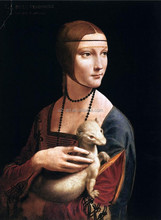 Masterpieces oil painting Portrait of Cecilia Gallerani by Da Vinci
