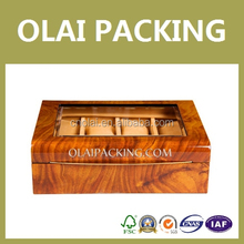 4 Slots Wooden Watch Box With Clear Window