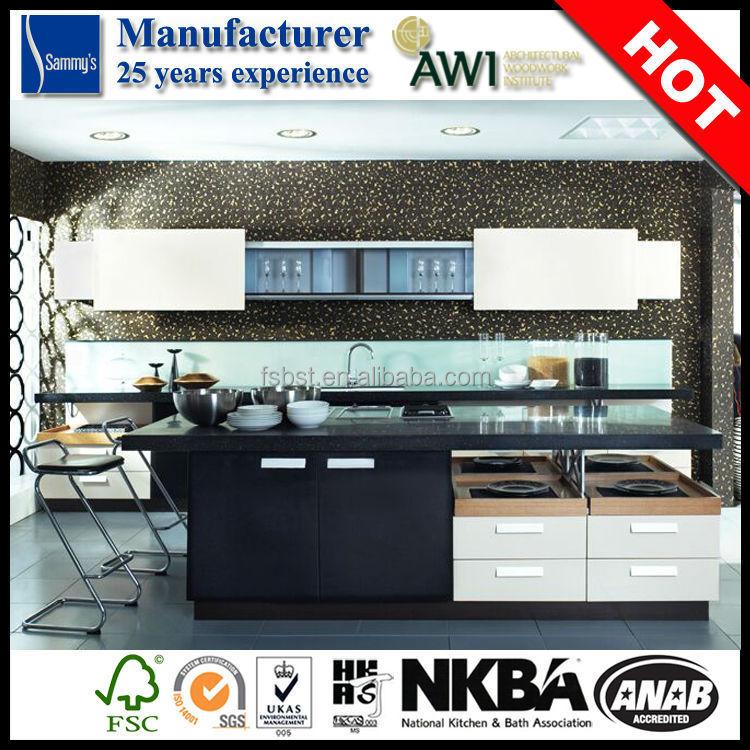 Economic single modular kitchen cabinet system l shaped for Economic kitchen designs