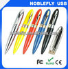 free laser logo print 8gb metal pen shape usb flash drive / usb 2.0 factory