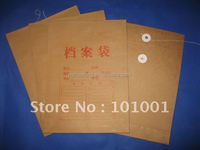 a4 brown kraft paper document envelope with string