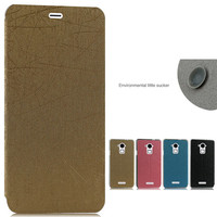 Factory price high quality flip leather case for Micromax dazen note3 with holder cover for coolpad dazen note3