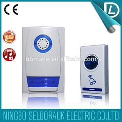 Own 100 kind items battery type remote control cute smart doorbell