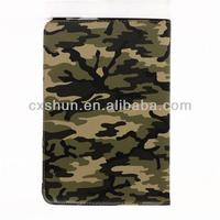 Green 360 Degree Rotary Rotating Camouflage Design Faux Smart Stand Swivel Leather Protective Case Cover for Ipad mini
