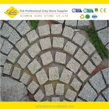 Fan-shaped 30*30cm Nature split G682 granite paving pattern