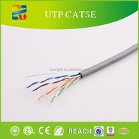 Fire Resistant PE Insulated Best network cable UTP Cat5e Lan Cable 4 Pair 24AWG Twisted Pair Wire