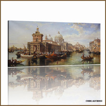 Handmade Classical venice oil painting for lexury wall art decoration