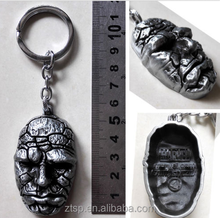 Movie Fantastic Four Ben Grimm The Thing 3D Silver 5cm Metal Key chain Ring New