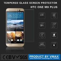 OEM/ODM Accept Paypal !! 0.26mm Thickness 9H Hardness Mobile Tempered glass screen protector for HTC ONE M9 Plus +