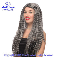 Wholesale synthetic hair corpse bride wigs grey color costume wigs