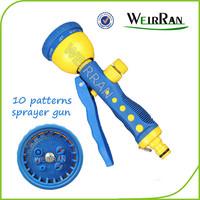 (84572) Hose end sprayer, revolve cleaning nozzle sprayer, pistol 10 functions vertical small garden spray gun