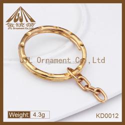 Fashion metal split ring with chain link eye screw