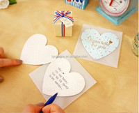 Sweet heart shape handmade paper greeting card