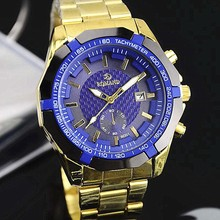 Wholesale Alibaba Gold Wrist Watch Stainless Steel Brand Watch Fashion Men Watches